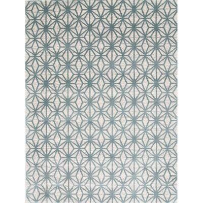 Matisse Pyramid Turkish Made Modern Rug, 200x290cm, Teal