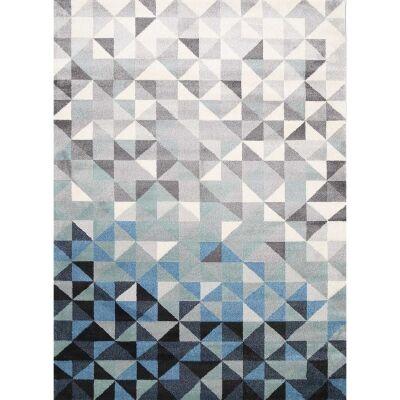 Matisse Triangles Turkish Made Modern Rug, 160x220cm, Blue