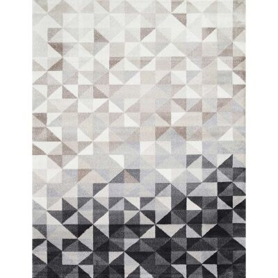 Matisse Triangles Turkish Made Modern Rug, 160x220cm, Charcoal