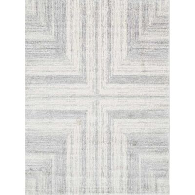 Matisse Cross Turkish Made Modern Rug, 160x220cm, Light Grey