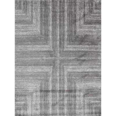 Matisse Cross Turkish Made Modern Rug, 80x150cm, Dark Grey