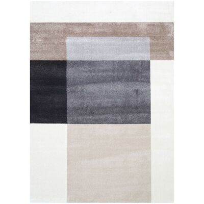 Matisse Colour Block Turkish Made Modern Rug, 330x240cm, Neutral