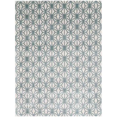 Matisse Pyramid Turkish Made Modern Rug, 150x80cm, Teal