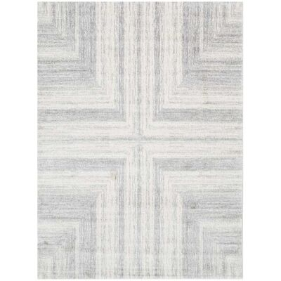 Matisse Cross Turkish Made Modern Rug, 330x240cm, Light Grey