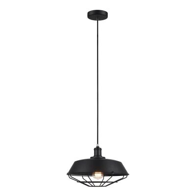 Matrix Iron Pendant Light, Black