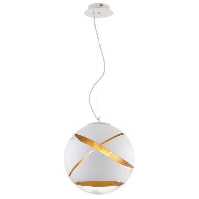 Matrix Glass Ball Pendant Light, Medium, White