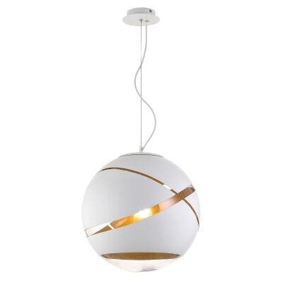 Matrix Glass Ball Pendant Light, Large, White