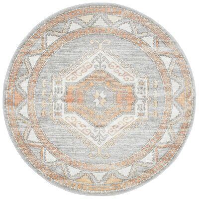 Mayfair Caitlen Bohemian Round Rug, 200cm, Grey