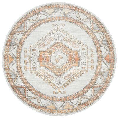 Mayfair Caitlen Bohemian Round Rug, 240cm, Natural