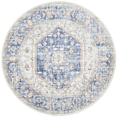 Mayfair Lorissa Bohemian Round Rug, 200cm, Blue