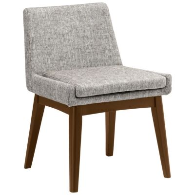 Maya Commercial Grade Fabric Dining Chair, Pebble / Cocoa