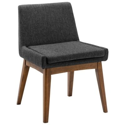 Maya Commercial Grade Fabric Dining Chair, Mud / Cocoa