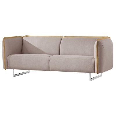 Peyton Fabric Sofa, 3 Seater, Light Grey