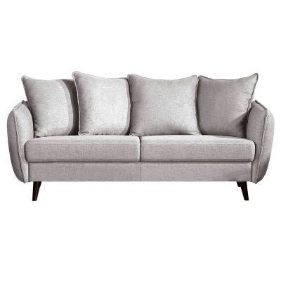 Zaria Fabric Sofa, 3 Seater, Grey
