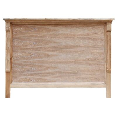 Belley Hand Crafted Mahogany Timber Bed Headboard, Queen, Weathered Oak