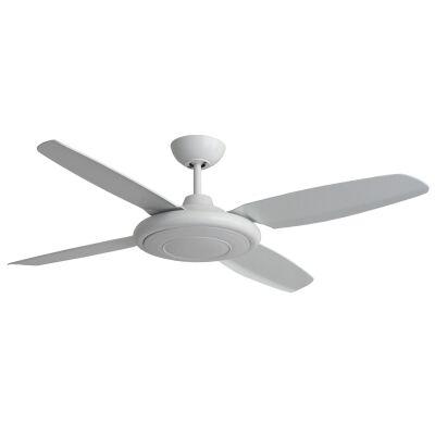 """Martec Beret Indoor / Outdoor Ceiling Fan, 132cm/52"""", White"""
