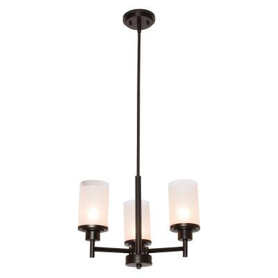 Autumn Metal & Glass Convertible Batten Fix / Pendant Light, 3 Light