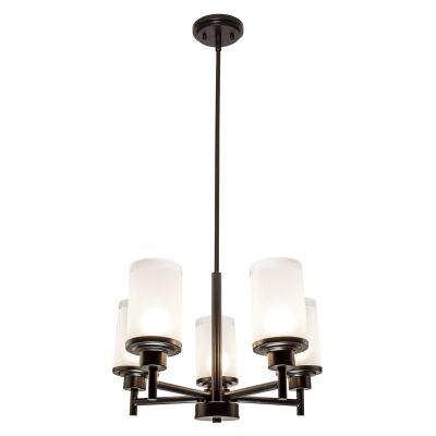 Autumn Metal & Glass Convertible Batten Fix / Pendant Light, 5 Light