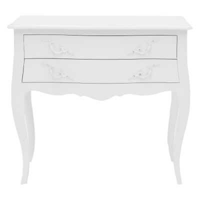 Briennon Hand Crafted Mahogany Bedside Table, White