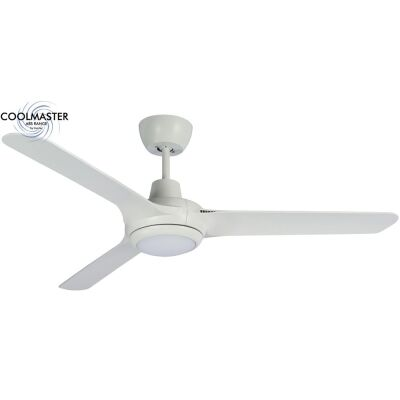 """Martec Cruise Indoor / Outdoor Ceiling Fan with CCT LED Light, 140cm/56"""", White"""