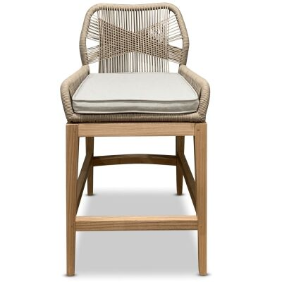 Dolls Woven Rope Counter Stool