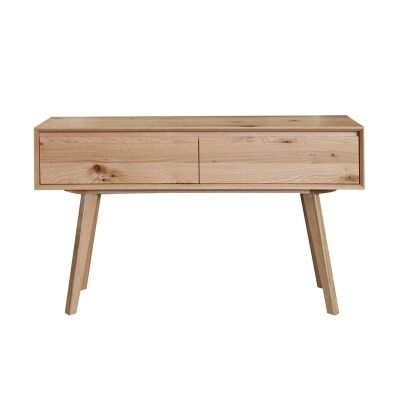 Eklund American White Oak Timber Sofa Table