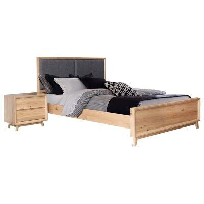 Eklund American White Oak Timber Bed, Queen