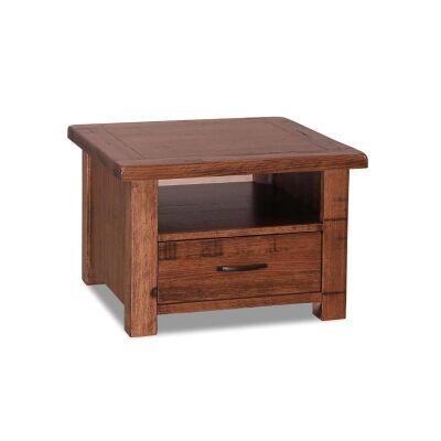 Paris Solid Tasmanian Oak Timber Lamp Table - Teak Stain