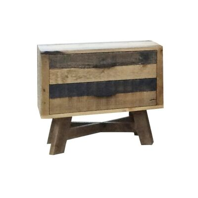 Wheaton Solid Recycled Pine Timber Bedside Table