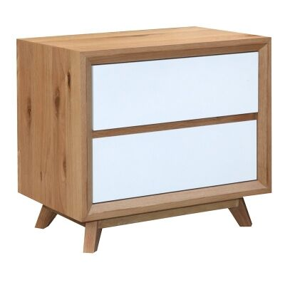 Sibil Solid American Oak Timber Bedside Table