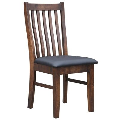 Artemis Solid Pine Timber Dining Chair with PU Leather Seat