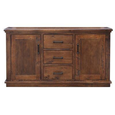 Artemis Pine Timber 2 Door 3 Drawer Buffet Table, 160cm