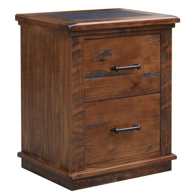Artemis Solid Pine Timber 2 Drawer File Cabinet