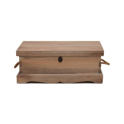 Larajasse Small Hand Crafted Mahogany Blanket Box, Weathered Oak