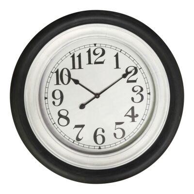 Mahima Round Wall Clock, 78cm, Black / White