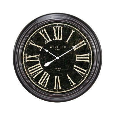 Hulme Iron Frame Round Wall Clock, 97cm