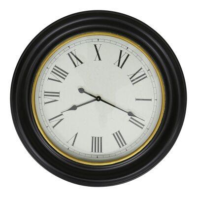 Harmon Iron Frame Round Wall Clock, 78cm