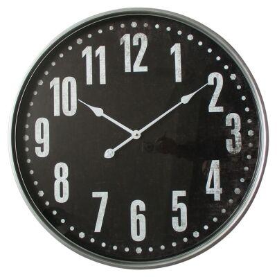 Keiron Iron Frame Round Wall Clock, 68cm