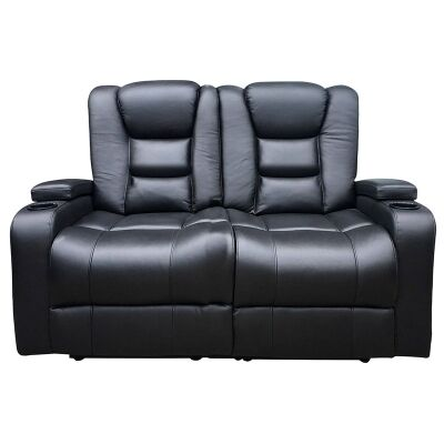 Morley Fabric 2 Seater Electric Recliner Suite, Black