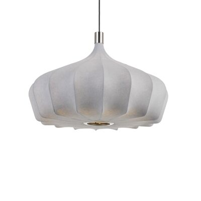 Mersh Stretched Fabric Pendant Light, Medium, Grey
