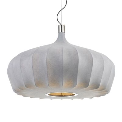 Mersh Stretched Fabric Pendant Light, Large, Grey