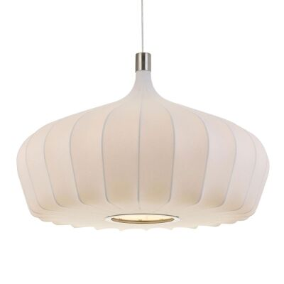 Mersh Stretched Fabric Pendant Light, Large, White
