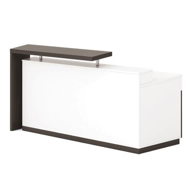 Jett Commercial Grade Reception Desk with Cabinet, 180cm