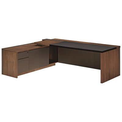 Barclay Commercial Grade Executive Office Desk, Left Return, 200cm