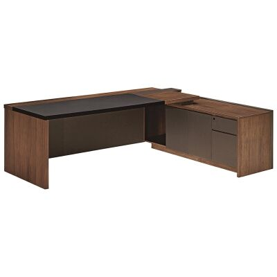 Barclay Commercial Grade Executive Office Desk, Right Return, 200cm