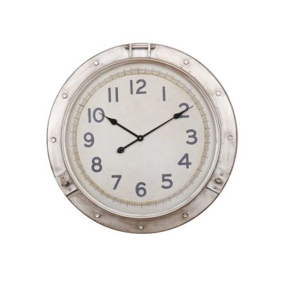 Hervey Bay Iron Frame Porthole Wall Clock, 72cm