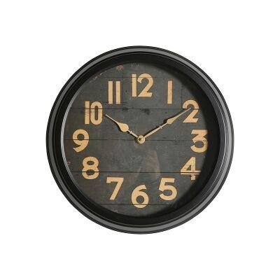 Bowen Iron Frame Round Wall Clock, 40cm