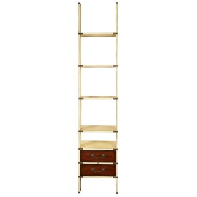 Library Timber Ladder Shelf, Ivory