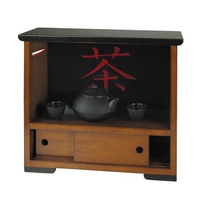 Travel Solid Timber Tea Cabinet