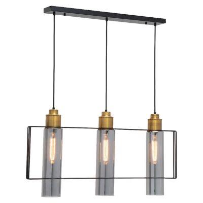 Empire Metal & Glass Pendant Light, 3 Light